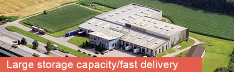 Large storage capacity/fast delivery